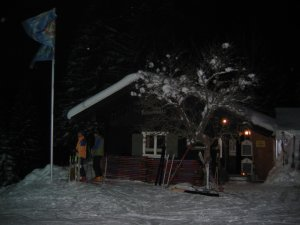 Night Skiing Cabin
